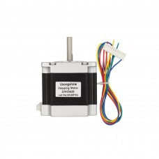 "6.35mm 1/4"" Shaft 178oz NEMA 23 Stepper Motor 4 wire 2.8A CNC Router 3D Printer [78201]"