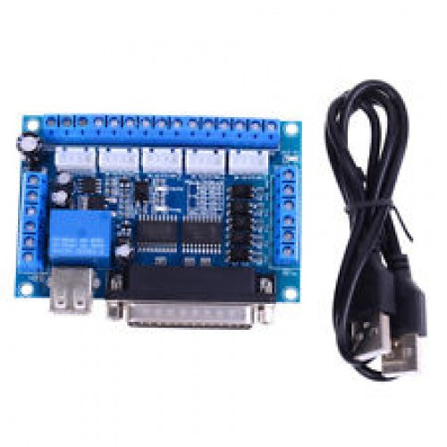 MACH3 CNC 5 axis interface breakout board for stepper motor driver CNC mill AL [78206]