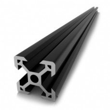 V-Slot 2020 Black Anodised Aluminium Extrusion Linear Profile - 1000mm [78329]