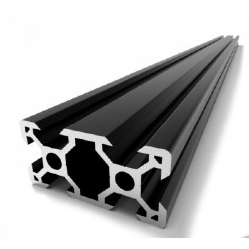 V-Slot 2040 Black Anodised Aluminium Extrusion Linear - 1000mm