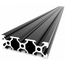 V-Slot 2060 Black Anodised Aluminium Extrusion Linear - 1000mm [78331]