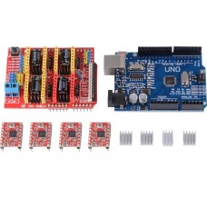 UNO R3 + CNC Shield V3 Expansion Board + 4pcs DRV8825 Stepper Motor Driver [78107]