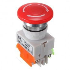 E-STOP SWITCH SELF LOCK MUSHROOM CAP EQUIPMENT BUTTON EMERGENCY STOP PUSH UNIT [78102]