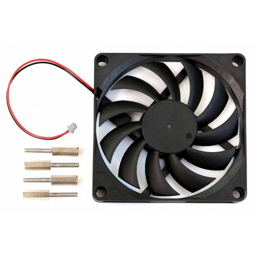 ODROID 80x80x10.8mm cooling fan with 2pin connector for N2+ (77334)