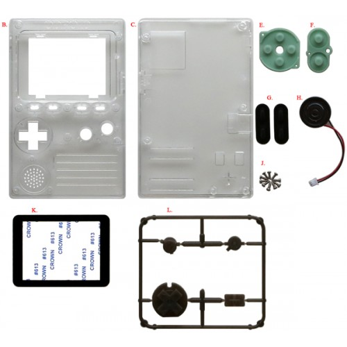 Cases, Buttons and Speaker kit for ODROID-GO [77902]